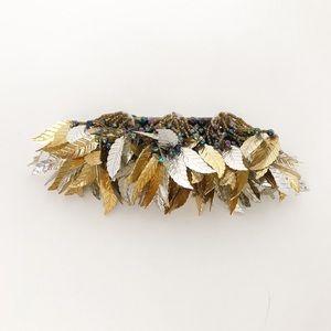 Vintage Leaf Dangle Hair Barrette Clip Accessory